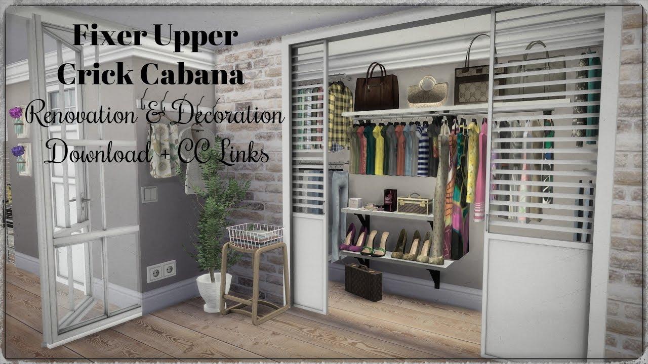 Sims 4 Fixer Upper Crick Cabana Renovation Amp Decoration