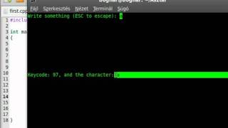 Ncurses and C++ 3 - getch (for Linux!)