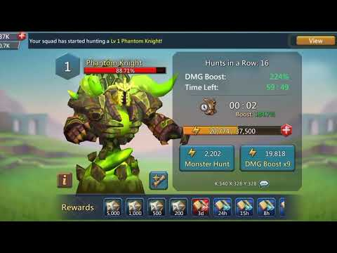 Lords Mobile - Hunting Phantom Knight!
