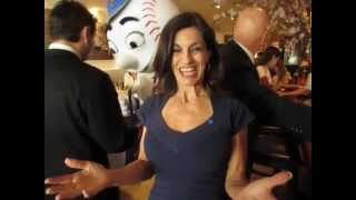Teresa & Mr. Met  promoting her MLB Bandages -  Filmed at Nellos eatery on the UES.avi