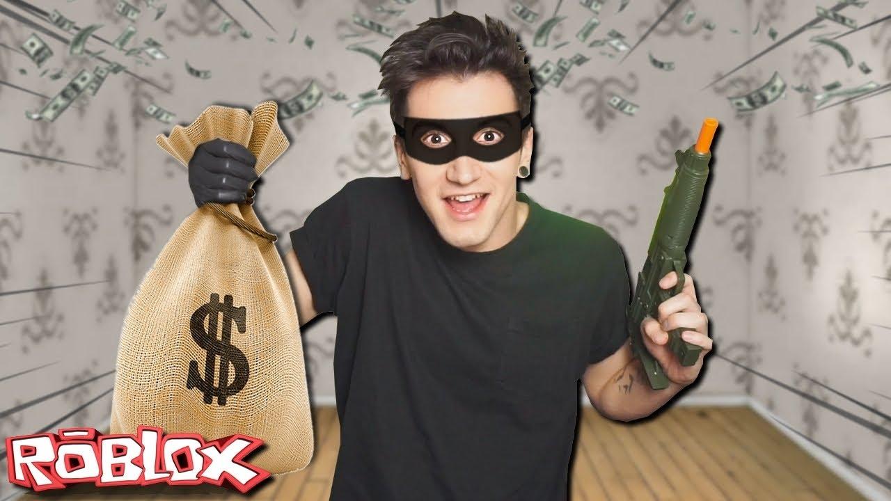Stal se ze mě ZLODĚJ a VYKRADL JSEM BANKU 💰😨 ( Roblox Příběh - Big Bank Robbery )