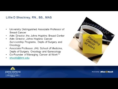 Lillie Shockney presents on Cancer Care Issues for Employers