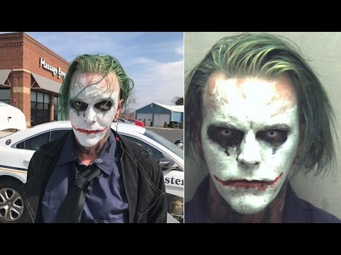 Joker cosplayer arrested for his mask, not the sword; Horror weightlifting injury - 03/27/2017