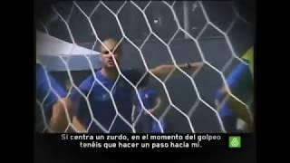 Guardiola explicando conceptos defensivos para el balón parado en contra