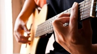 How to Play Easy Bass Lines   Fingerstyle Guitar