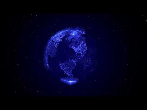 Amazing Hologram of Earth   1 Hour 4K Relaxing Screensaver! 60FPS for Meditation. Relax music