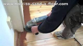 Sanding pine, wooden floors, how to sand a wooden floor