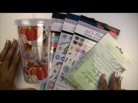 October Dollar Tree Haul || ft Planner Sticker Books || Home Decor