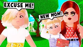 MY SPOILED DAUGHTER STOLE MY CREDIT CARD AND BOUGHT A NEW MOM ON BLOXBURG! (Roblox)