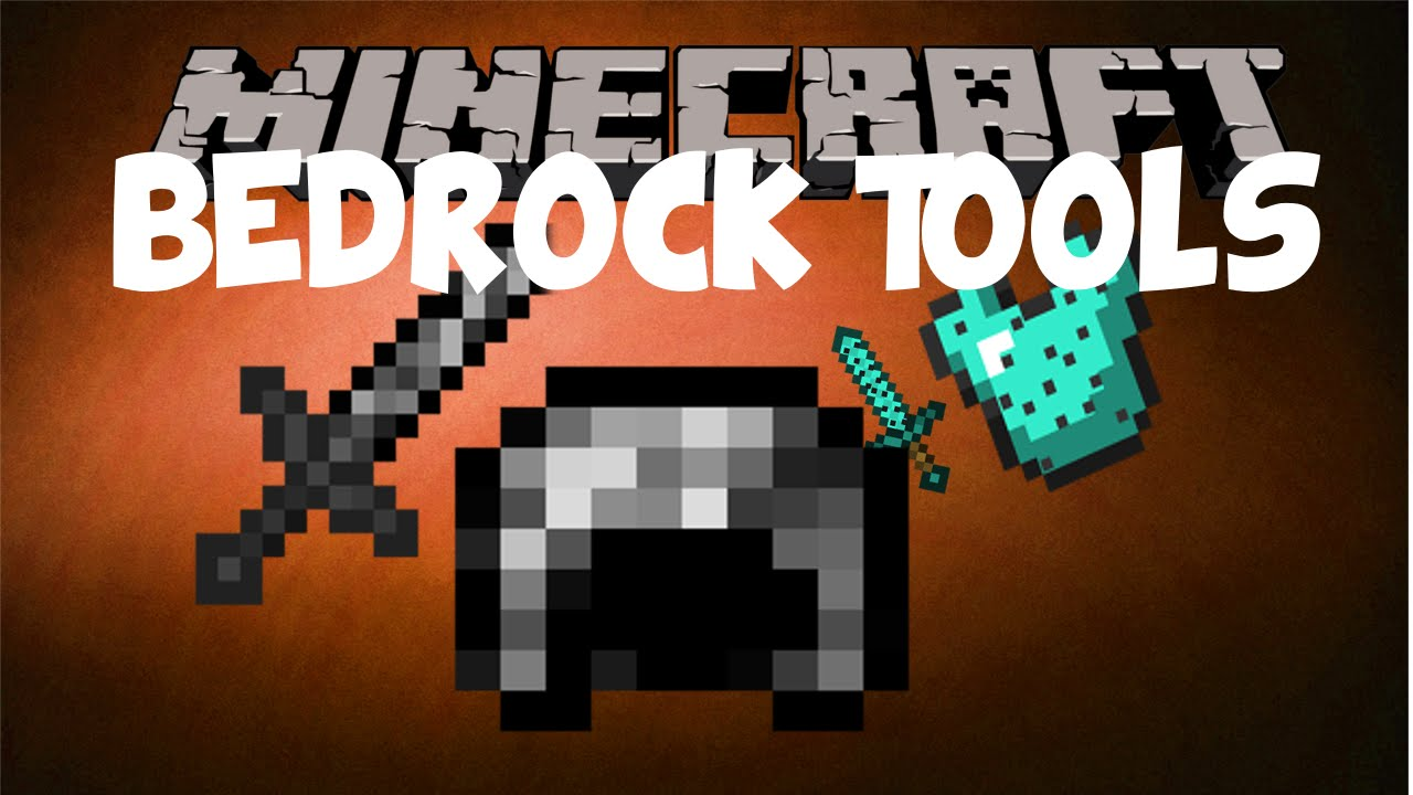 Minecraft mods : BEDROCK TOOLS AND ARMOR !! - YouTube