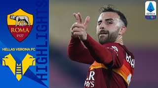 Goals from mancini, mkhitaryan & borja mayoral gave roma the 3 home points before consolation for hellas verona | serie a timthis is official channel for...