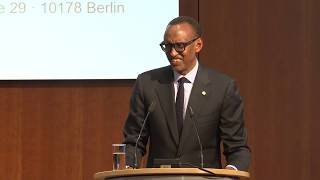 G20 Compact with Africa Investment Summit | Remarks by President Kagame | Berlin, 19 November 2019