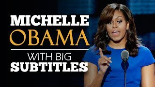 ENGLISH SPEECH | MICHELLE OBAMA: Donald Trump's Sexual Behaviour (English Subtitles)
