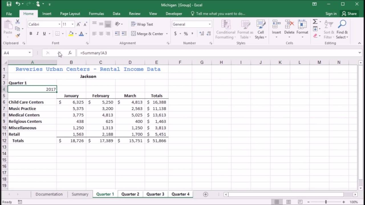 worksheet Excel Reference Another Worksheet 609 entering a formula to reference another worksheet in excel 2016