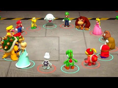 Super Mario Party - Minigames - Mario vs Bowser vs Peach vs Shyguy