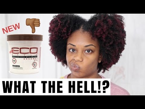 WHAT THE HELL?! WASH AND GO | NEW ECO STYLER COCONUT OIL GEL | GIVEAWAY!! | JOURNEYTOWAISTLENGTH
