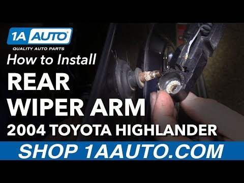 How to Install Replace Rear Wiper Arm 2004 Toyota Highlander
