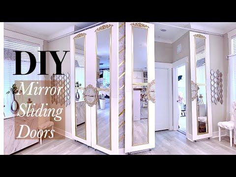 mirror-sliding-door-diy-using-walmart-mirrors!-easy-home-improvement-ideas