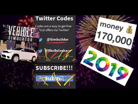 ROBLOX VEHICLE SIMULATOR MOST OF THE WORKING CODES 2019!!!