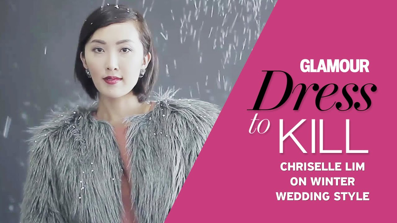 6b9b38076d29 What to Wear for a Winter Wedding Outfit - Dress to Kill - Chriselle Lim  Style Tips | Glamour