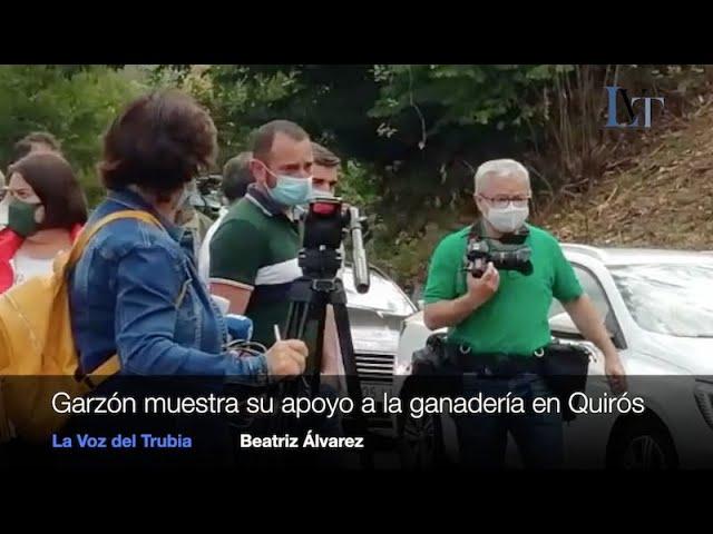 Visita de Garzón a Quirós