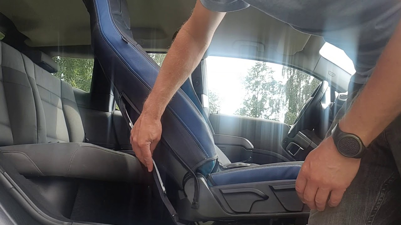 Custommade seat covers for BMW i3 - Part 2 - Installation