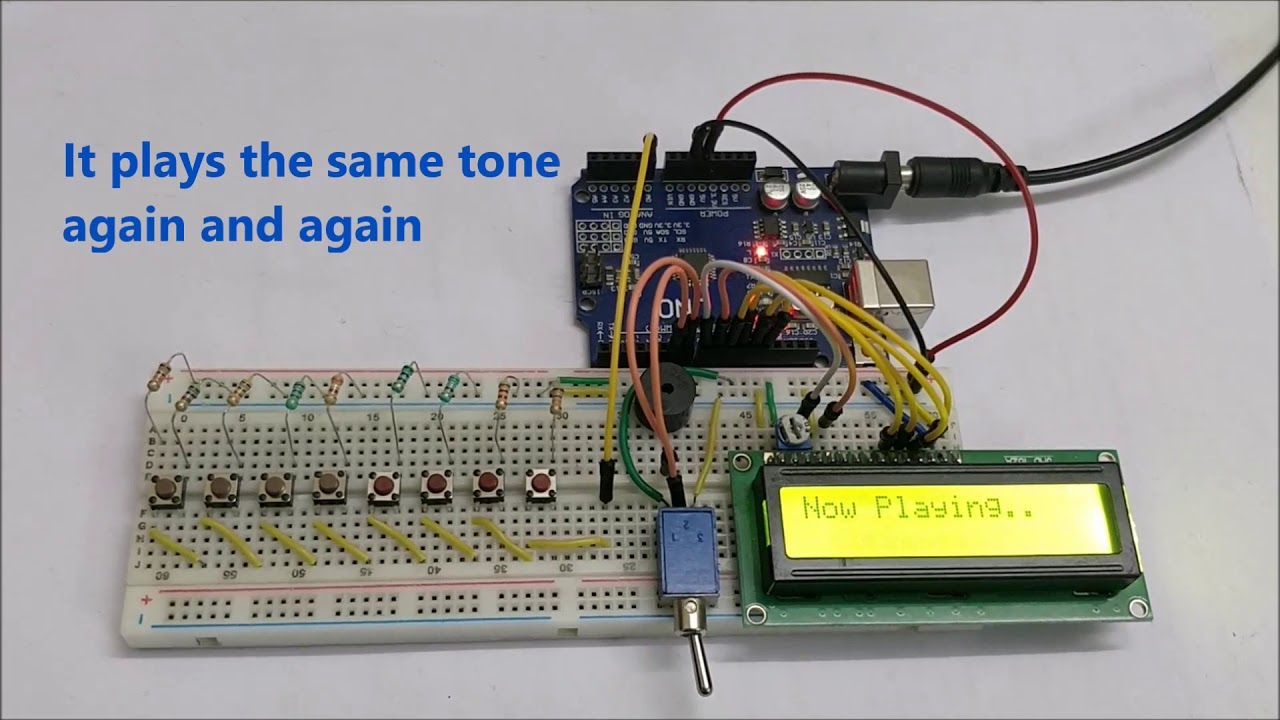 Arduino Based Piano with Recording and Replay