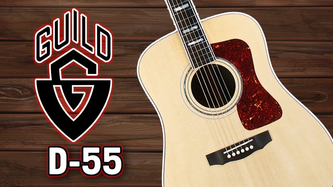 Guild D-55 Review & Demo