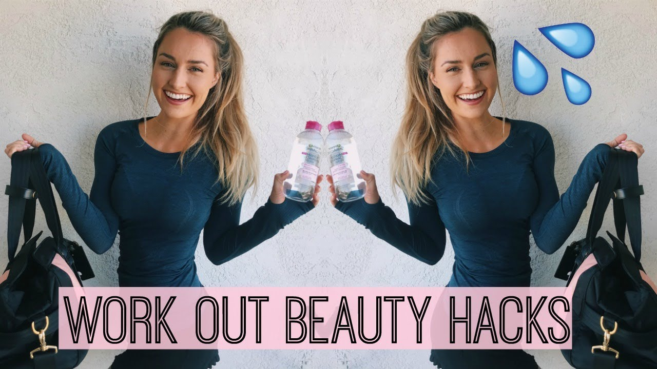 WORK OUT BEAUTY HACKS! + Persu Gym Bag Review