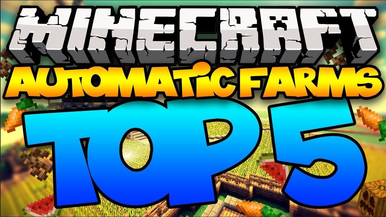 Top Minecraft Automatic Farms YouTube - Minecraft nutzliche spielerkopfe