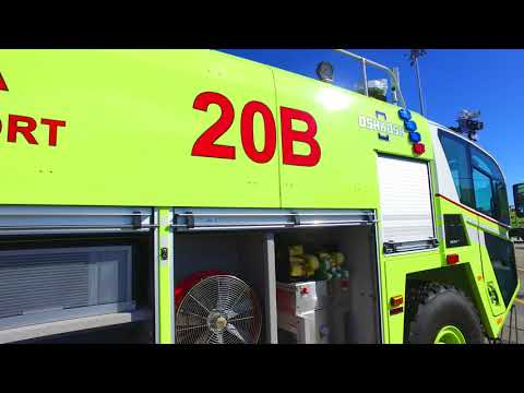 4K Tour of San Jose Airports New Striker 6X6 Fire Truck