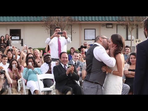 Our Wedding Story First Kiss Ever