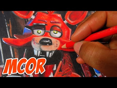 Drawing Foxy from Five Nights at Freddy's - Amazing Art for Kids
