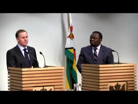 Morgan Tsvangirai best speech  Joint press conference   John  Zimbabwe news bbc rest in peace died