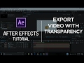 Export Video with Transparency | After Effects Tutorial
