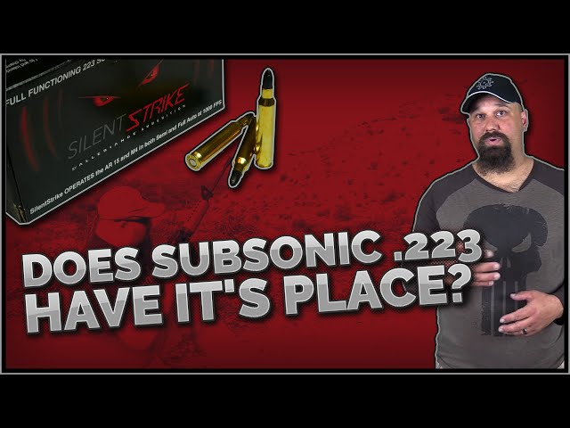 Does Subsonic .223 Have It's Place? .223 Silent Strike 110gr Subsonic Gel Test