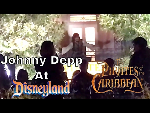 Johnny Depp At Disneyland As Captain Jack Sparrow | Surprises Guests On Pirates Ride