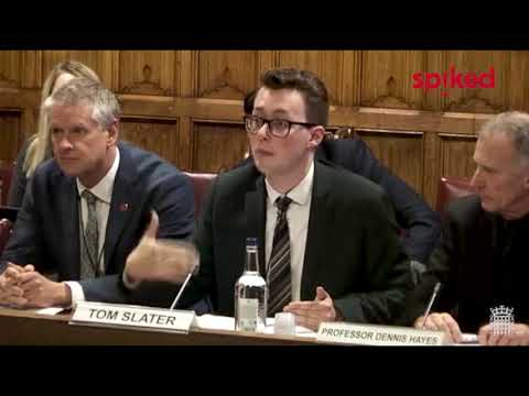 Tom Slater giving evidence on campus censorship to the Joint Committee on Human Rights