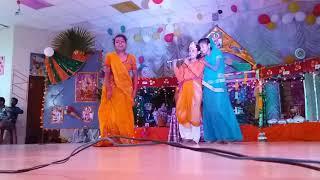 Jnv gauriganj celebrating Krishna janamastmi (dance)