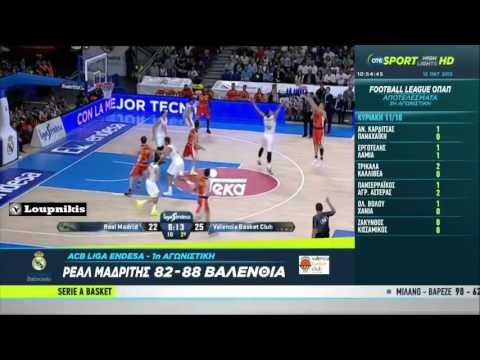 Real Madrid vs Valencia BC 82-88  Liga ACB {11/10/2015}