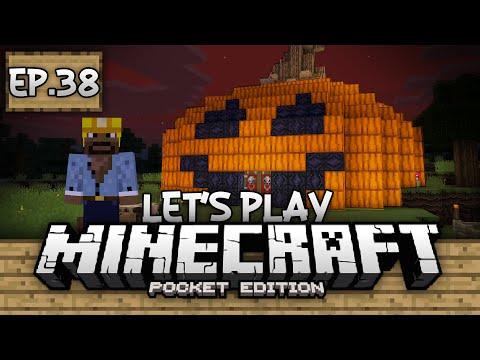 Survival Let's Play Ep. 38 - A Minecraft Halloween!!! - Minecraft PE (Pocket Edition)