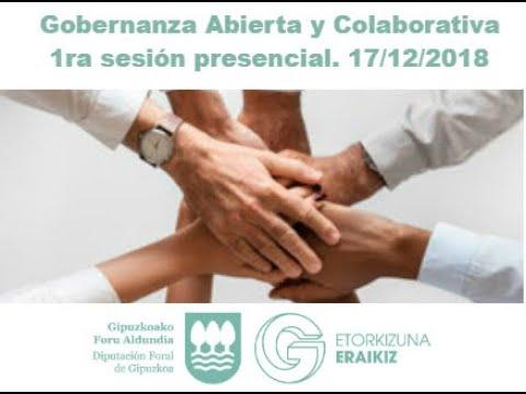 Formación en Gobernanza Abierta y Colaboración: 1ª sesión presencial