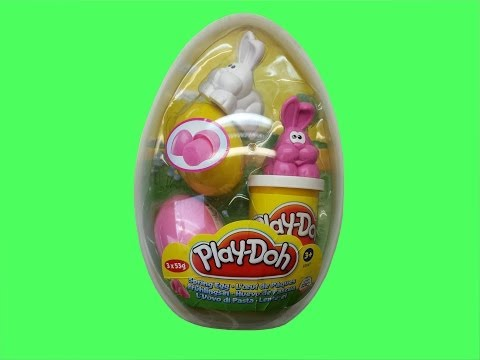 Play Doh Easter Edition Maxi Egg Rabbits and Suprise Eggs