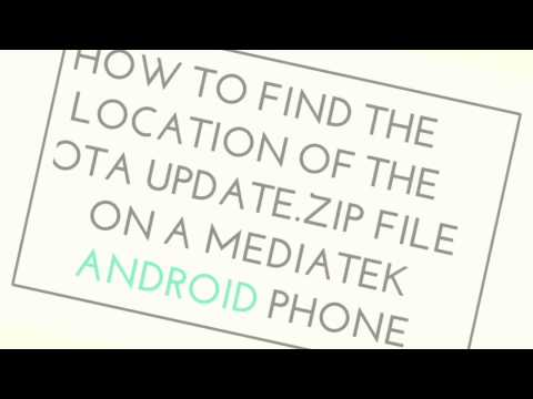 How to locate the OTA update zip file on an MTK Android