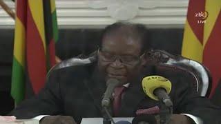 Zimbabwe, DÉMISSION DU PRÉSIDENT ROBERT MUGABE