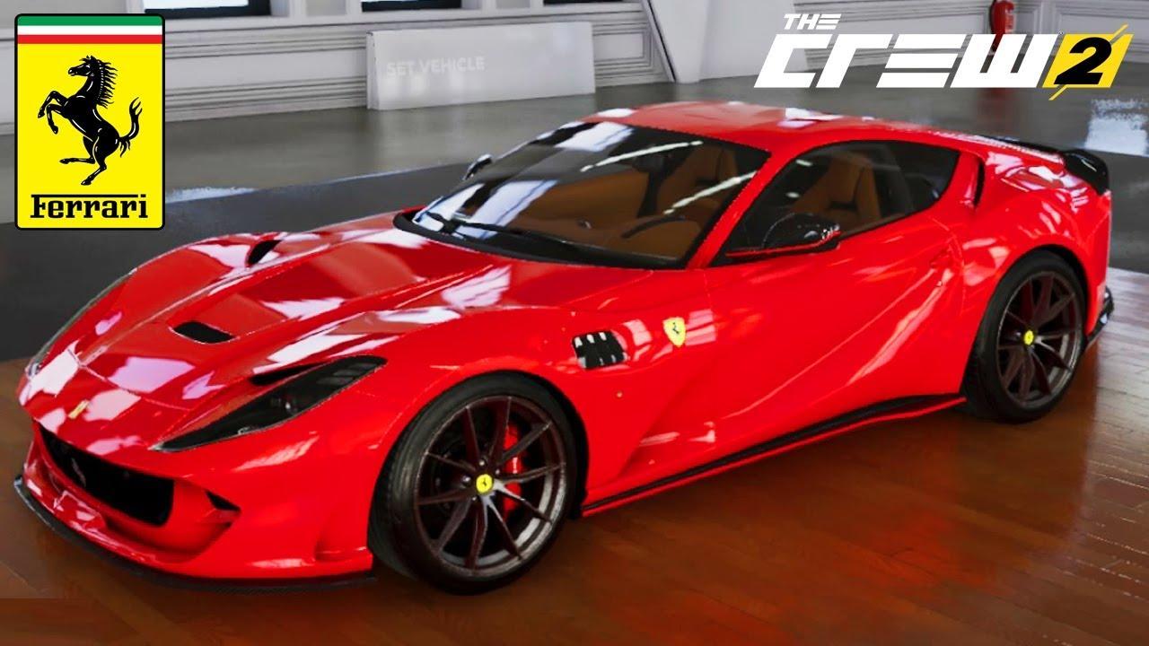 The Crew 2 Ferrari 812 Superfast Customization Top Speed Review Youtube