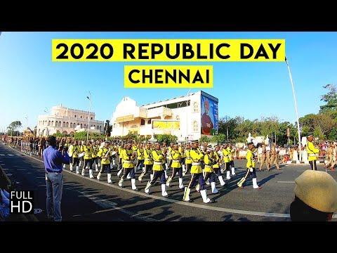 Republic day parade 2020 | Chennai Marina Beach | Kamarajar Salai | Full Dress | Tamil Nadu
