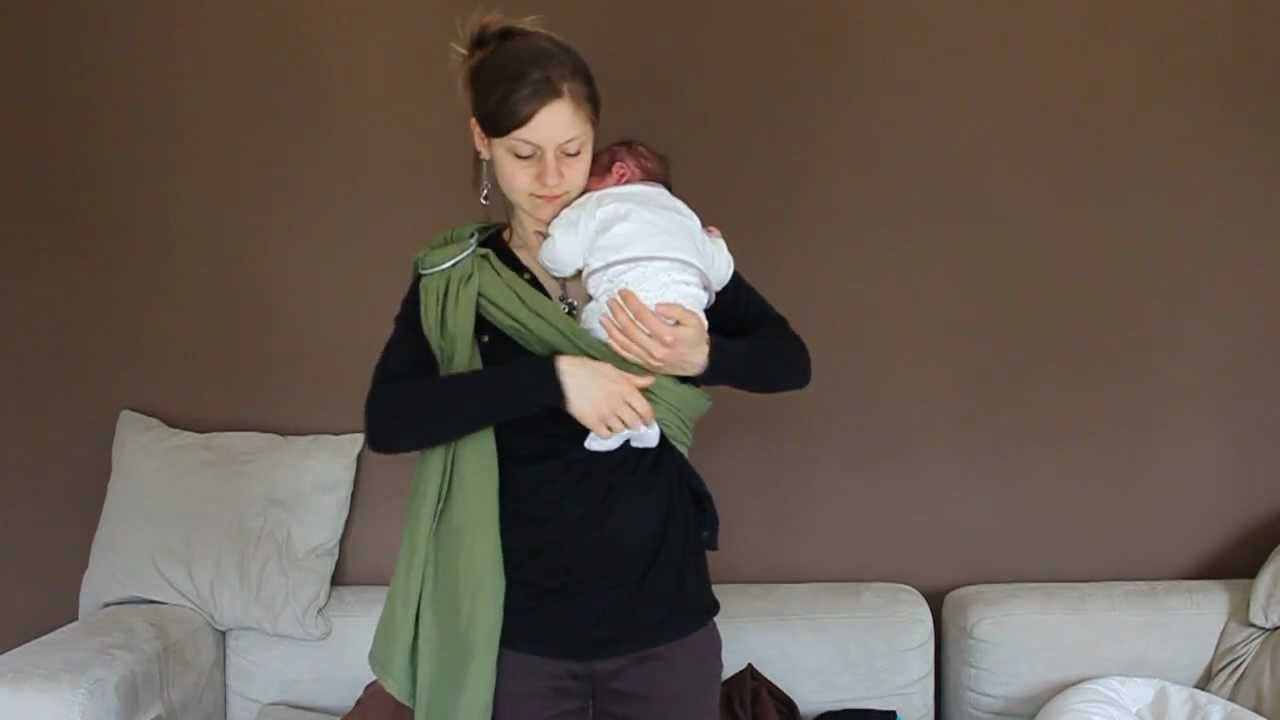 Sling Nouveauné YouTube - Porte bébé sling