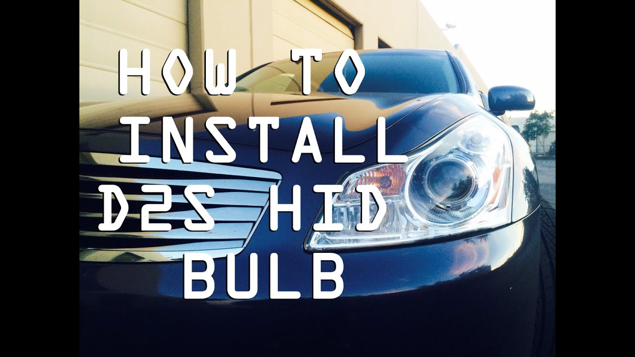 Diy how to install d2s hid bulbs infiniti g35 g37 sedan or try ad free for 3 months vanachro Choice Image