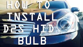 diy how to install d2s hid bulbs   infiniti g35 g37 sedan or coupe 2007 2014
